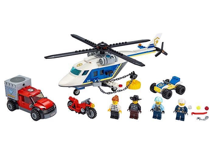 LEGO® City: Urmarire cu elicopterul politiei 60243 [0]
