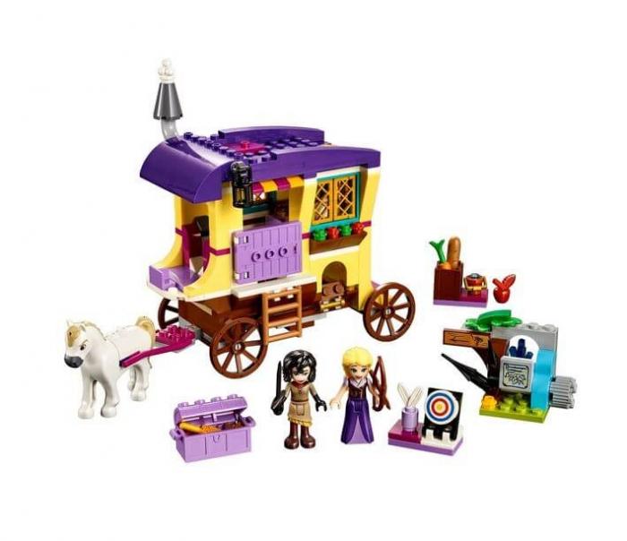 LEGO® Disney Princess™ Rulota de calatorii a lui Rapunzel 41157 1