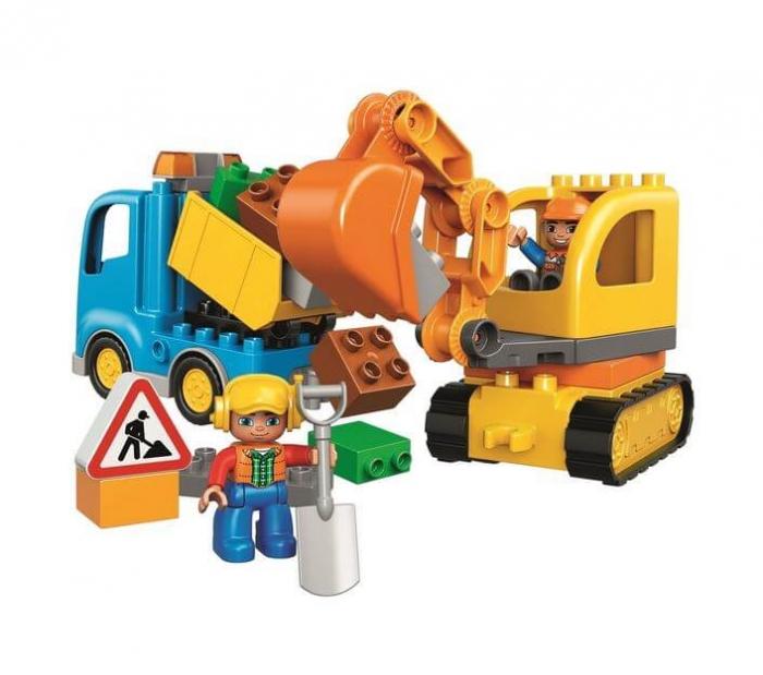 LEGO® DUPLO® Camion & excavator pe senile 10812 1
