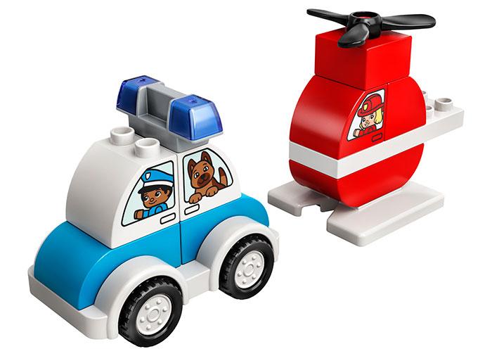 LEGO® DUPLO® : Elicopter de pompieri si masina de politie 10957 [0]