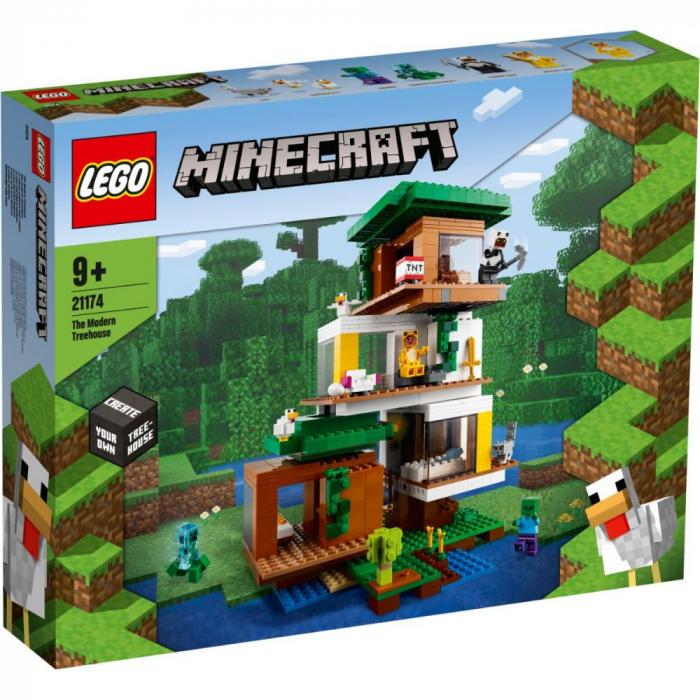 LEGO Minecraft - Casuta din copac 21174, 909 piese [0]