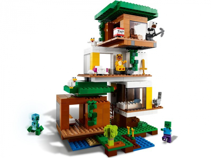 LEGO Minecraft - Casuta din copac 21174, 909 piese [1]
