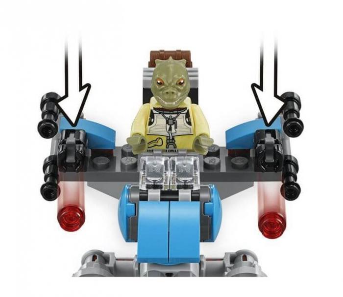 LEGO® Star Wars™ Motocicleta de viteza Bounty Hunter™ 75167 4