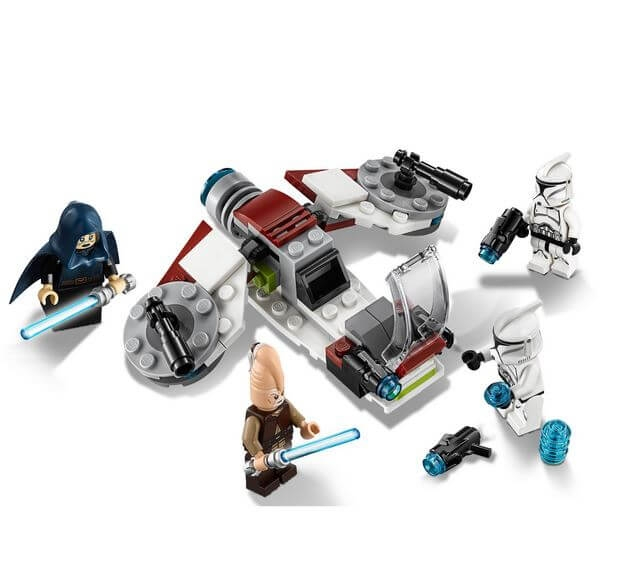 LEGO® Star Wars™ Pachet de lupta Jedi™ si Clone Troopers™ 75206 3