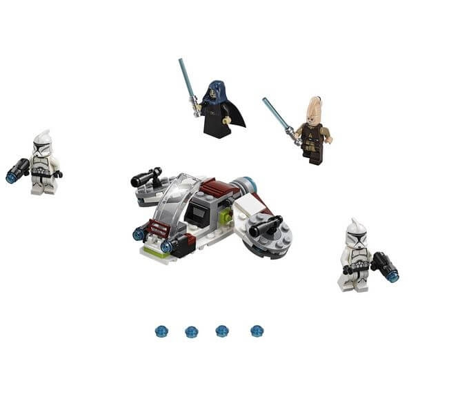 LEGO® Star Wars™ Pachet de lupta Jedi™ si Clone Troopers™ 75206 1