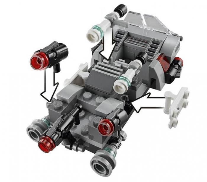 LEGO® Star Wars™ Transportor de viteza al Ordinului Intai 75166 1