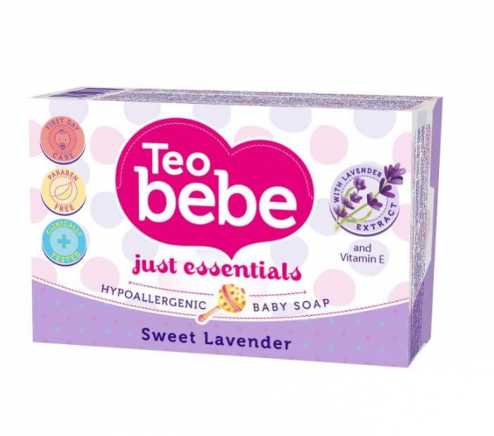 Sapun Solid Teo Bebe Delicate Lavander, 75 gr 0