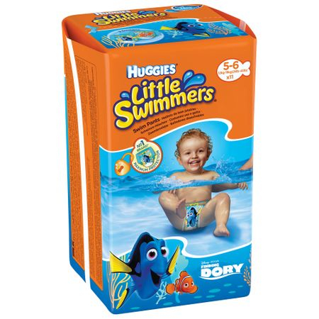 Scutece Baie Huggies, Dory Little Swimmers, nr5-6, 12-18kg, 11buc. 0