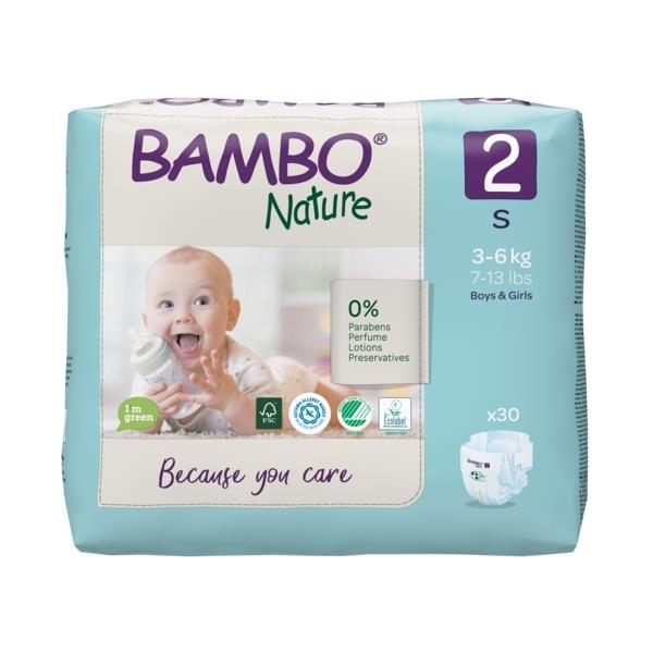 Scutece Bambo Nature, Eco-Friendly, nr2, 3-6 kg, 30 buc 2