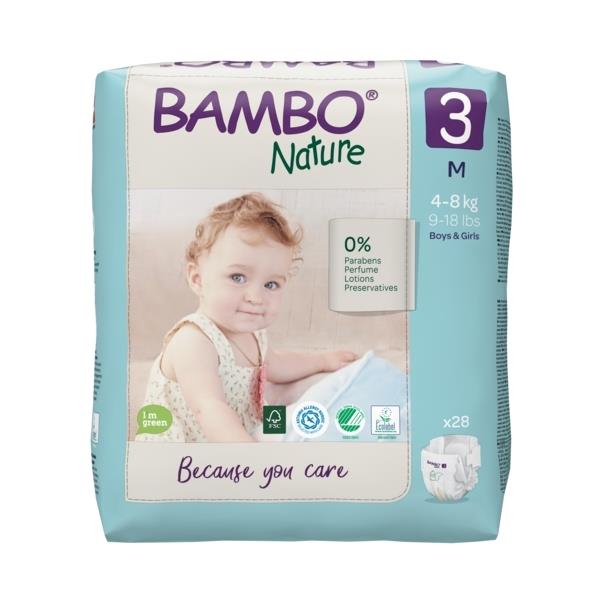 Scutece Bambo Nature, Eco-Friendly, nr3, 4-8 kg, 28 buc 0