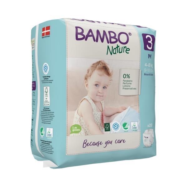 Scutece Bambo Nature, Eco-Friendly, nr3, 4-8 kg, 28 buc 2