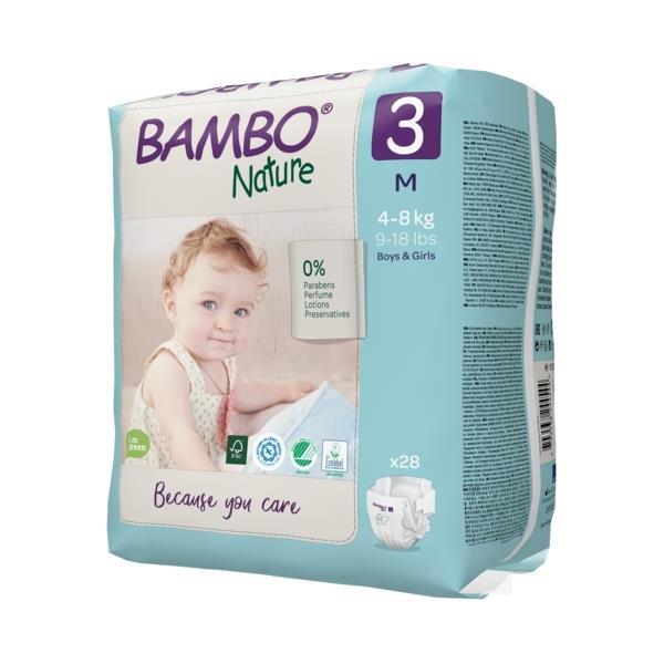Scutece Bambo Nature, Eco-Friendly, nr3, 4-8 kg, 28 buc 1