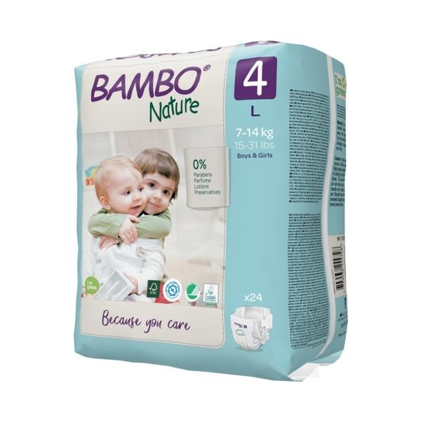 Scutece Bambo Nature, Eco-Friendly, nr4, 7-14 kg, 24 buc 1