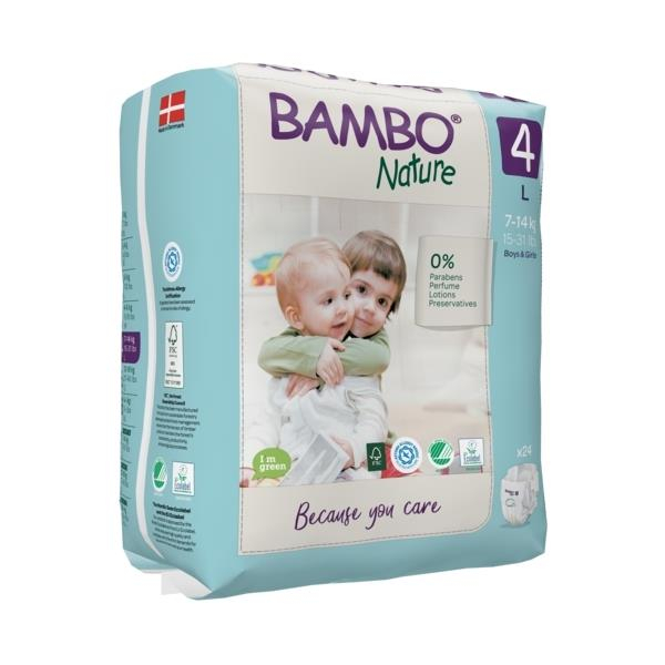 Scutece Bambo Nature, Eco-Friendly, nr4, 7-14 kg, 24 buc 2