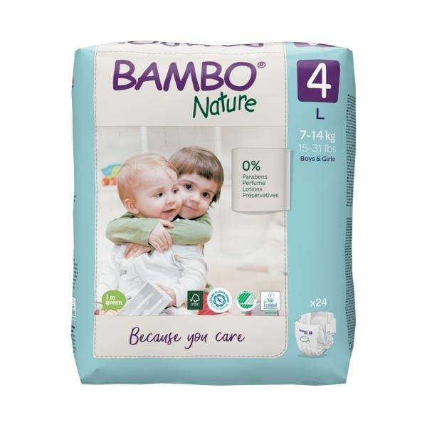 Scutece Bambo Nature, Eco-Friendly, nr4, 7-14 kg, 24 buc 0
