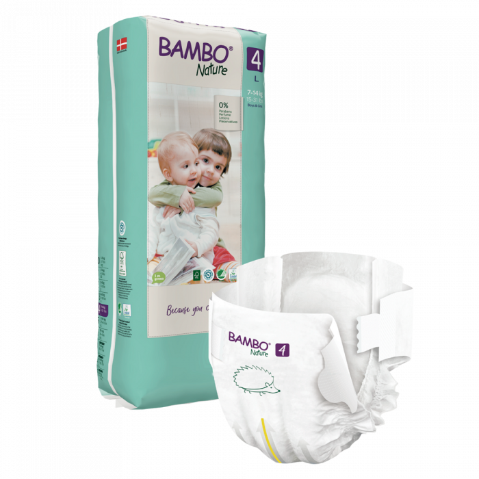 Scutece Bambo Nature, Eco-Friendly, nr4, 7-14 kg, 48 buc 0