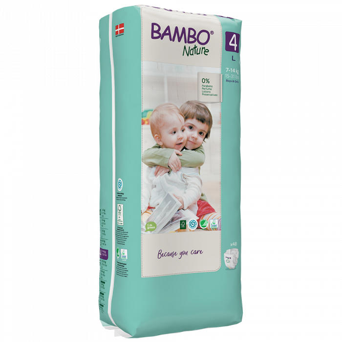 Scutece Bambo Nature, Eco-Friendly, nr4, 7-14 kg, 48 buc 1