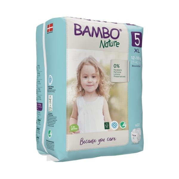 Scutece Bambo Nature, Eco-Friendly, nr5, 12-18 kg, 22 buc [0]