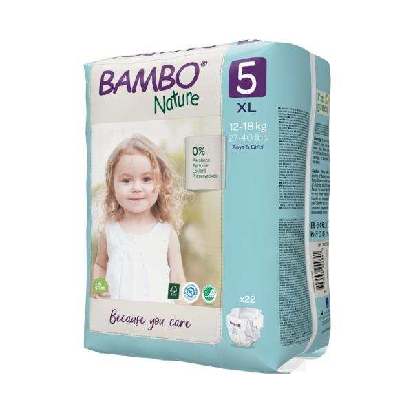 Scutece Bambo Nature, Eco-Friendly, nr5, 12-18 kg, 22 buc [2]