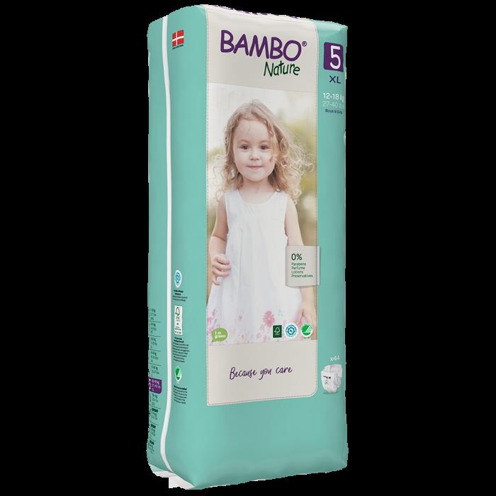Scutece Bambo Nature, Eco-Friendly, nr5, 12-18 kg, 44 buc 1
