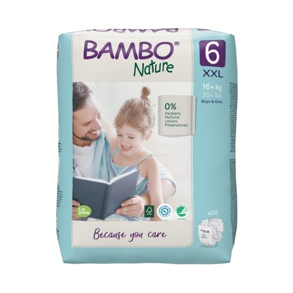 Scutece Bambo Nature, Eco-Friendly, nr6, 16+ kg, 20 buc 1