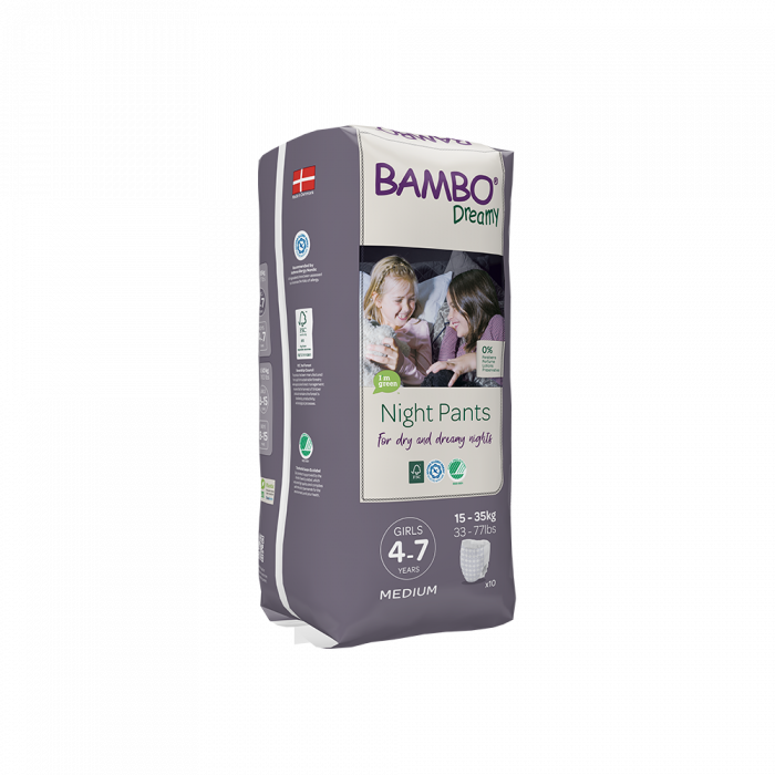 Scutece Chilotel Bambo Dreamy Night Girl, 4-7 ani, 15-35 kg, 10 buc 1