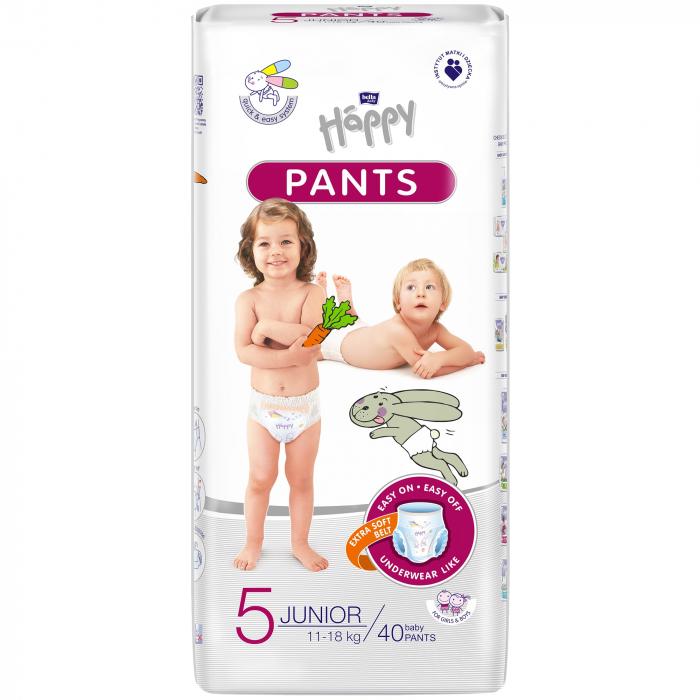 Scutece Chilotel Happy Pants Junior 5, 11-18 kg, 40 buc 0
