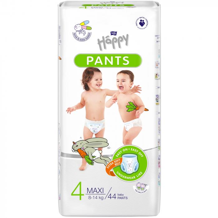 Scutece Chilotel Happy Pants Maxi 4, 8-14 kg, 44 buc [0]