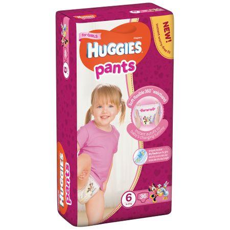 Scutece Chilotel Huggies D, Girl, nr6, 15-25kg, 36buc.  0