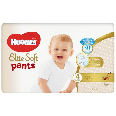 Scutece Chilotel Huggies Elite Soft, nr 4, 9-14kg, 56 buc. 1