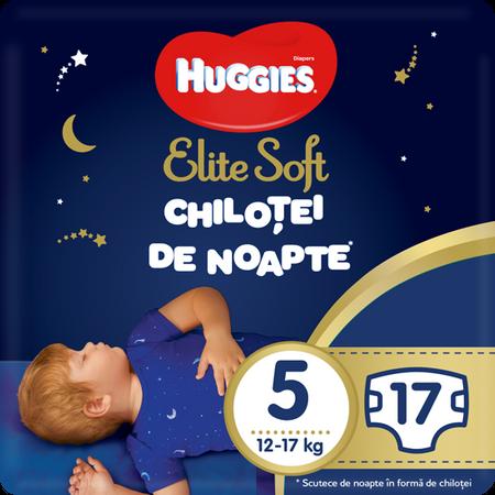 Scutece Chilotel Huggies Overnight, nr5, 12-17kg, 17 buc. 0