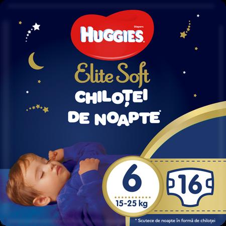 Scutece Chilotel Huggies Overnight, nr6, 15-25, 16 buc. 0