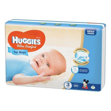 Scutece Huggies Ultra Confort, Boy, nr3, 5-9kg, 80buc. 0
