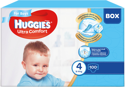 Scutece Huggies Ultra Confort, Boy, nr4, 8-14kg, 100buc. 0
