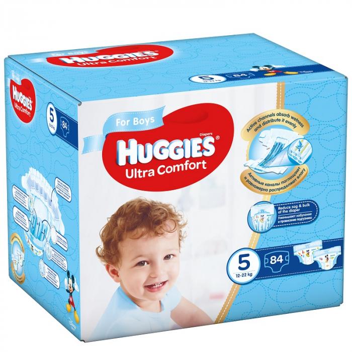 Scutece Huggies Ultra Confort, Boy, nr5, 12-22kg, 84buc. 0