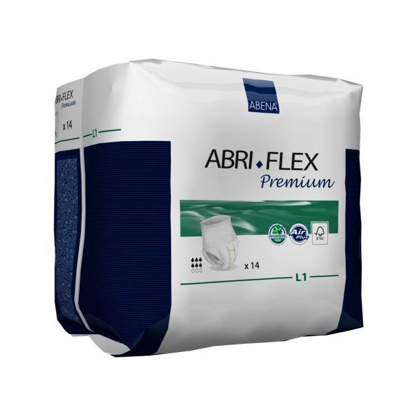 Scutece Incontinenta Adulti Abri-Flex L1 Premium FSC, Tip Chilot, 14 bucati 1
