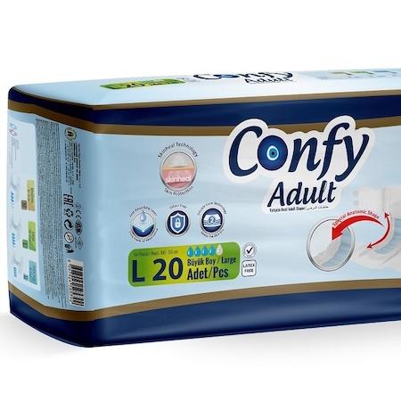 Scutece Incontinenta Adulti Confy LARGE ECO2, 20 bucati 0