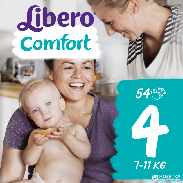 Scutece Libero Comfort, nr4, 7-11kg, 54 buc 0