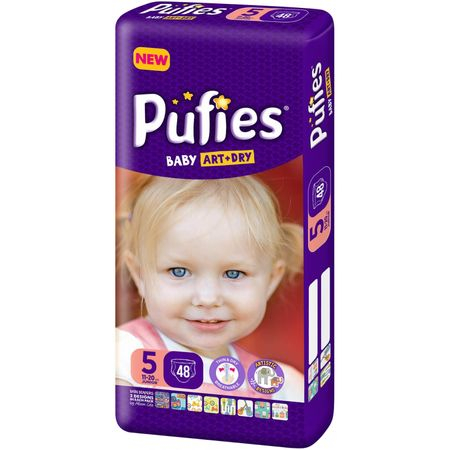 Scutece Pufies Baby Art Dry, nr5 MP, Junior, 11-20 kg, 48 buc. 0