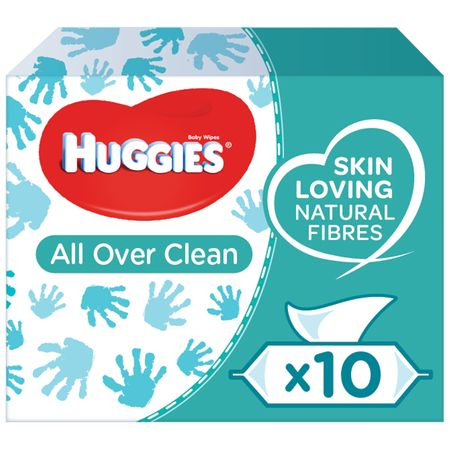 Servetele Umede Huggies All Over Clean, 10 pachete, 560 buc 0