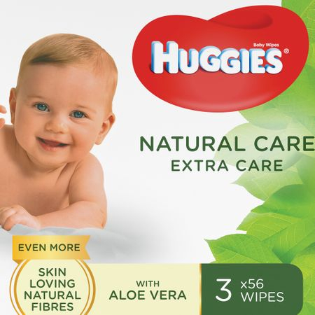 Servetele Umede Huggies N'care, 3 pachete, 168buc 0