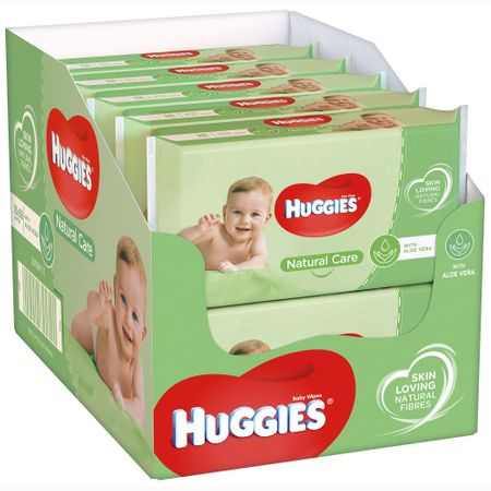 Servetele Umede Huggies Natural Care, 10 pachete, 560buc 0