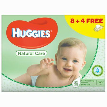 Servetele Umede Huggies Natural Care, 12 pachete, 672buc 0
