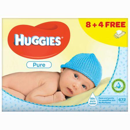 Servetele Umede Huggies Pure, 12 pachete, 672buc 0