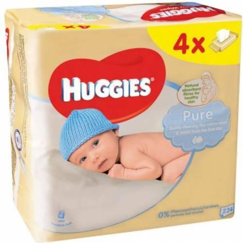 Servetele Umede Huggies Pure, 4 pachete, 224buc [0]