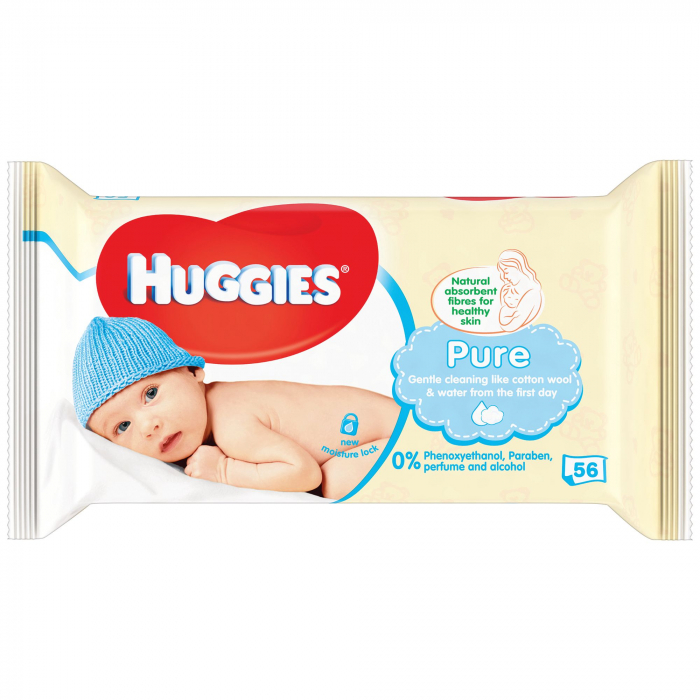 Servetele Umede Huggies Pure, 56 buc 0