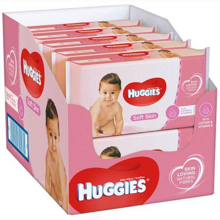 Servetele Umede Huggies Soft Skin, 10 pachete, 560buc 0