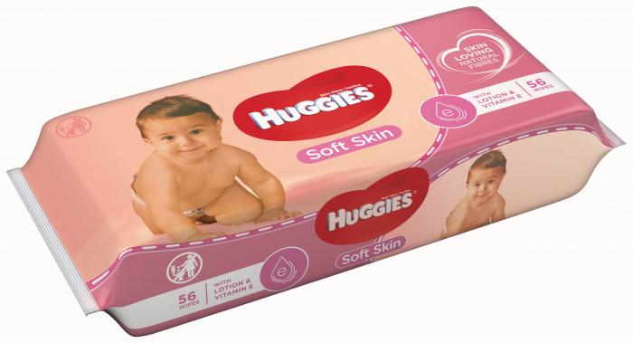 Servetele Umede Huggies Soft Skin, 56 buc 0