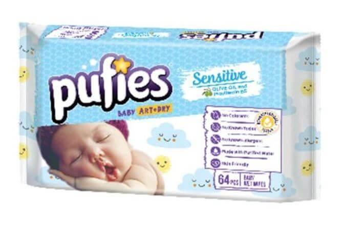 Servetele Umede Pufies Sensitive, 4 x 64 buc 1