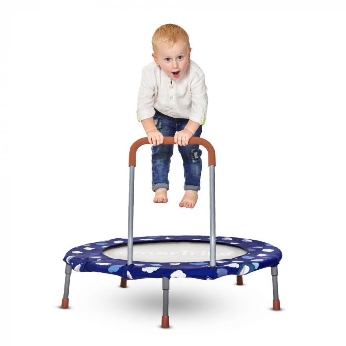 SmarTrike® Jump 3 in 1, Trambulina pliabila si piscina cu bile, Albastru [4]